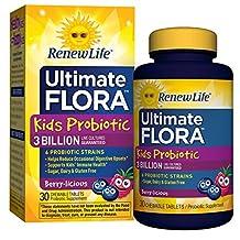Renew Life Kids Probiotic, Ultimate Flora, 3 Billion, 30 Chewable Tablets