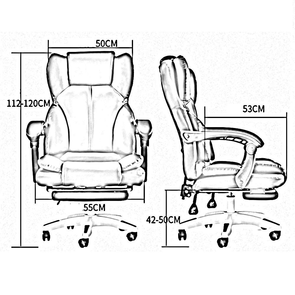 JIEER-C stol läder skrivbord spelstol med fotstöd hög rygg ergonomisk justerbar racerstol dubbel vadderad kudde med massage ländrygg stöd, svart röd Rosa