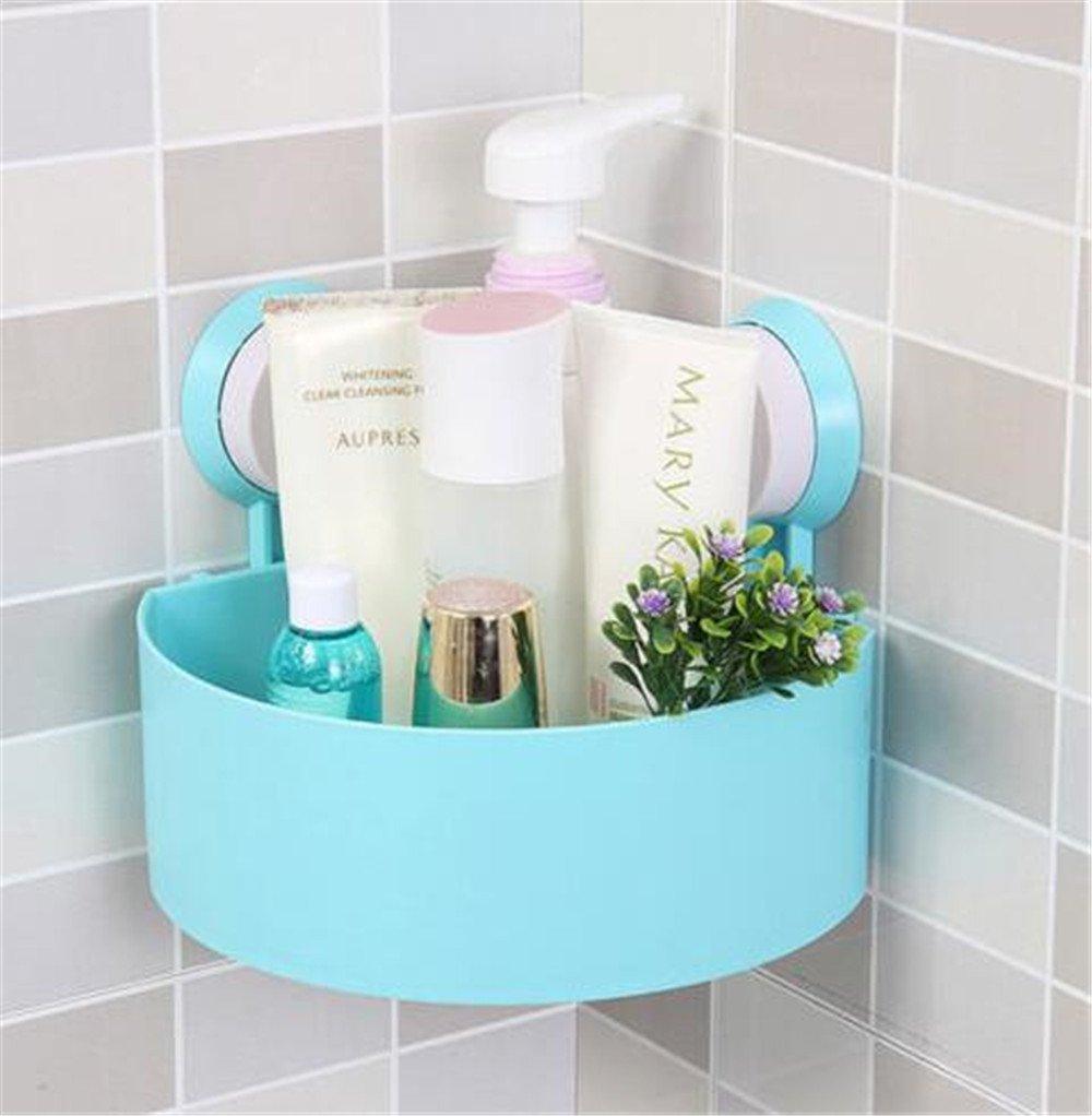 Amazon.com: Plastic Suction Cup Bathroom Kitchen Corner Storage Rack ...