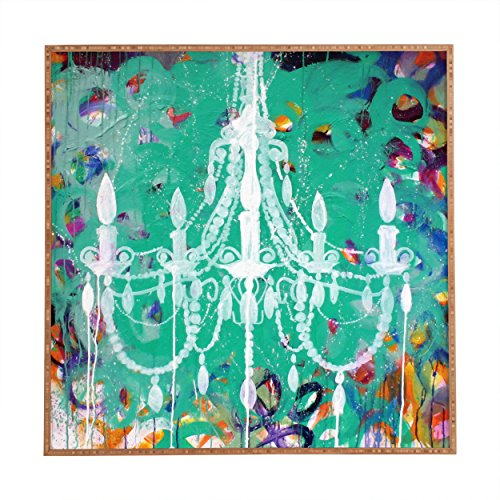 """Deny Designs Kent Youngstrom, Emerald Chandelier, Framed Wall Art, Small, 12""""x 12"""""""