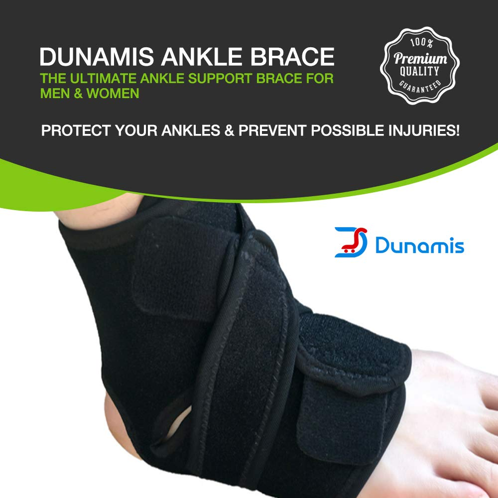 Dunamis Premium Ankle Support Brace for Men & Women | Nonslip, Elastic & Breathable Ankle Compression Socks for Plantar Fasciitis, Swelling &Aches | Protective Ankle Sleeves for Training & Recovery