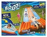 slip and slides for adults - New Inflatable Water Slide Triple Pool Kids Park Backyard Play Fun Outdoor Splash Slip N Slide