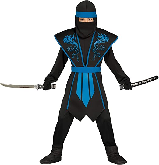 Guirca Costume de ninja pour enfant avec armure élégante - bleu ...