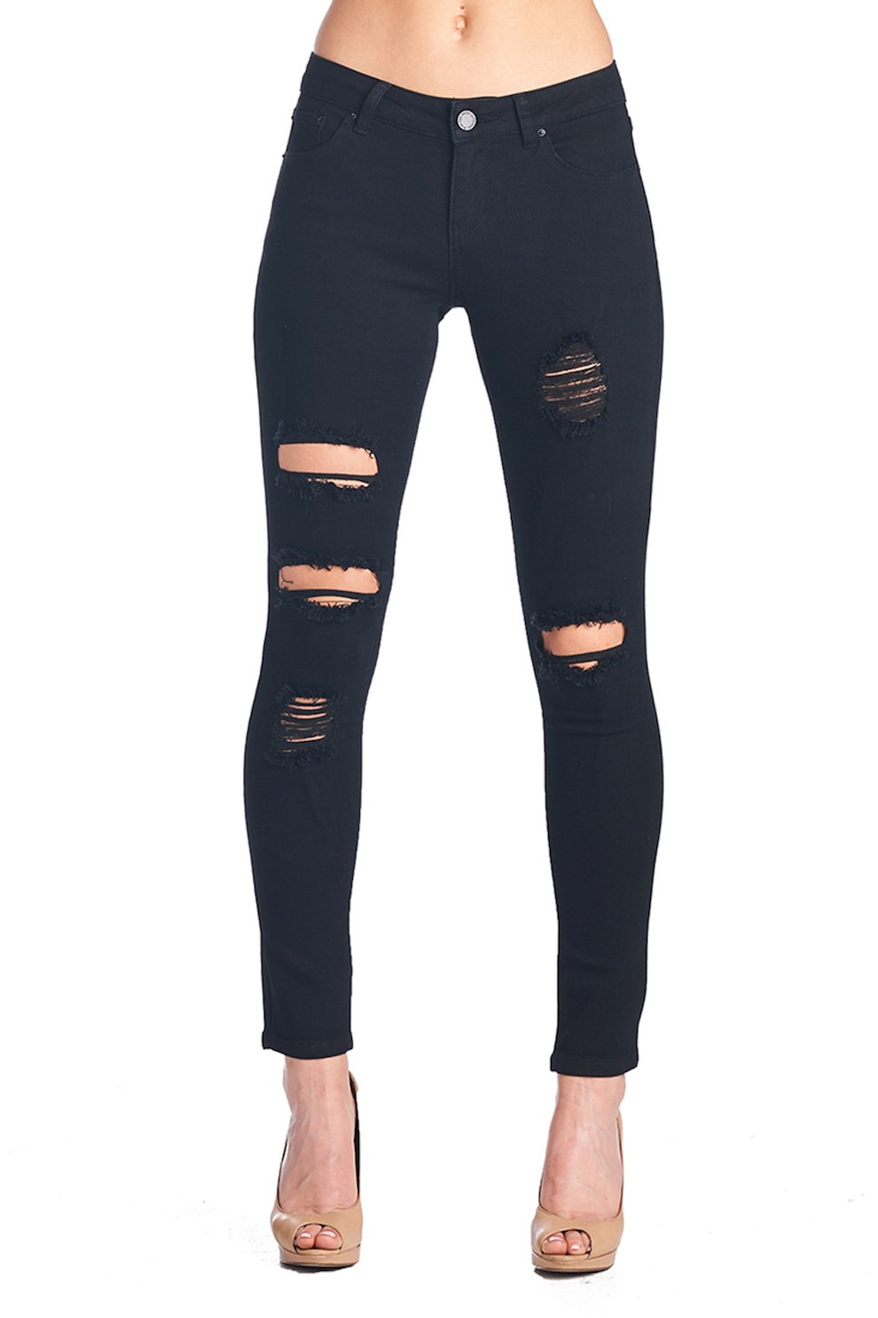 f694e7c6d4870 ICONICC Women s Butt Lifting Skinny Jeans Destroyed Ripped Stretch Denim