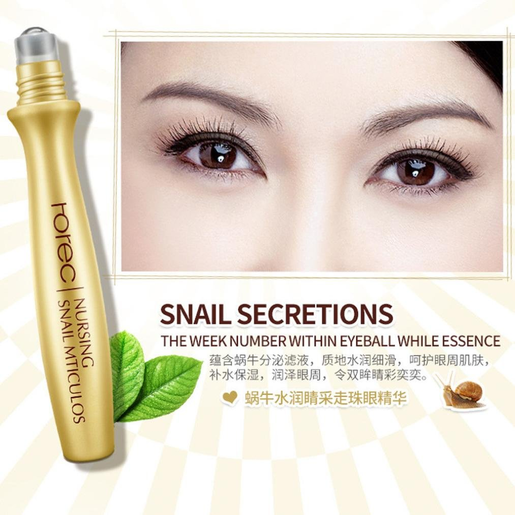 Amazon.com : Bemas ROREC Firming Gel Remove Dark Circle Wrinkle Slide Ball Eye Essence Gel Cream (Gold) : Beauty