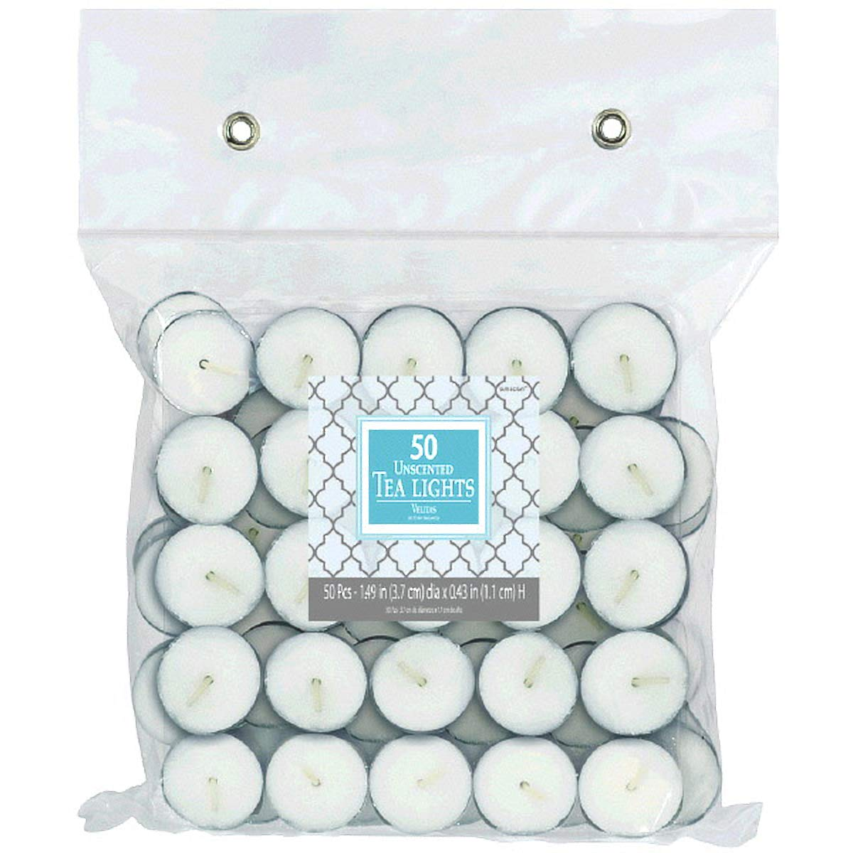 Unscented Tealight Candles | White | Party Supply | 600 Ct