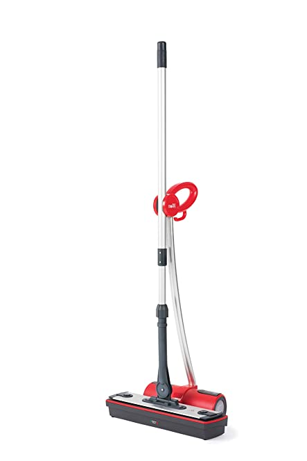 polti moppy cordless floor cleaner with steam red