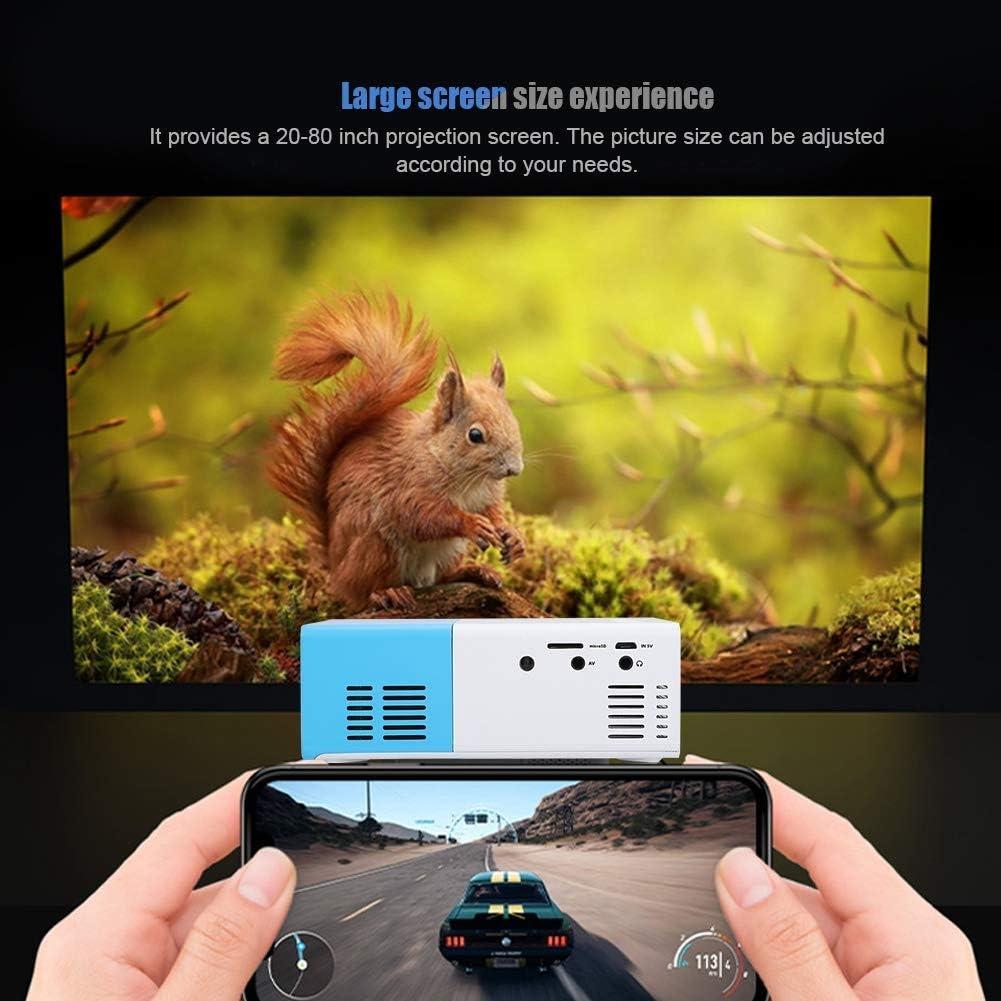 Wei/ß LED-Projektor Bluetooth Heimkino Projektor Drahtloser Unterhaltungs Handy Projektor Bewinner Video-Beamer Tragbarer Mini Projektor 1500 Lumen Unterst/ützung 1080 P AV//VGA//HDMI//USB//TF-Karte