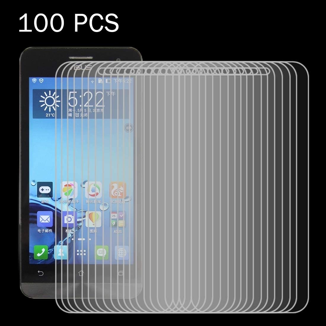 JIN TEMPEREDGLASSFILM 100 PCS for ASUS ZenFone 5 0.26mm 9H Surface Hardness 2.5D Explosion-Proof Tempered Glass Film