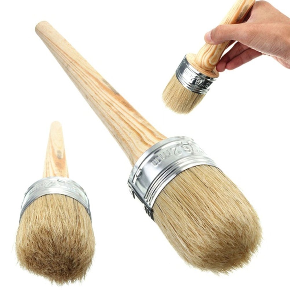 ULTNICE Paint Wax Brush for Painting Waxing Furniture Stencils Home Decor 40mm