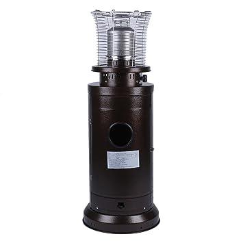 bingh otfire Calentador de Gas Gas Acero Inoxidable Estufa Terraza compacta Altura 112 cm, con