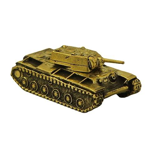 Amazon.com: soviética tanque KV-1 bronce llavero estatuilla ...