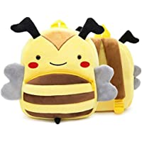 FLORICA Toddler Kids Backpacks Cartoon Cute Animal Plush Backpack Toddler Mini School Bag for Little Girls Boys Kids