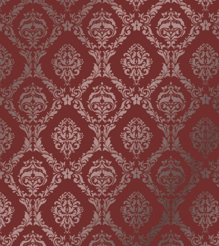 Large Wall Damask Stencil Faux Mural Design #1007 18