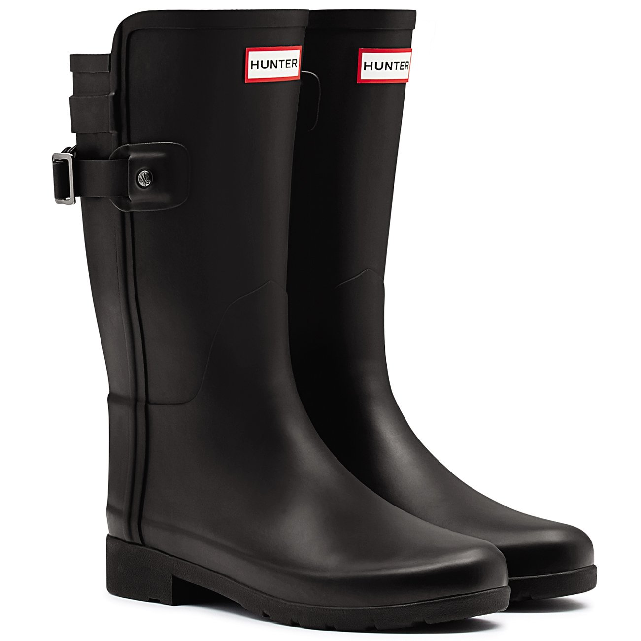 Womens Hunter Original Refined Back Strap Short 11 Wellingtons Winter Boots B015SJBNZ8 11 Short B(M) US|Black 1d47c5