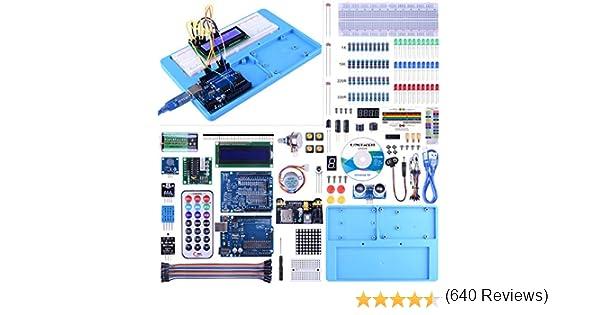 UA005 Kit Arduino UNO UNIROI Kit de Iniciaci/ón Arduino Completo con Tutorial para Principantes a Aprender Programaci/ón