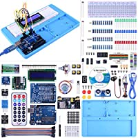 UNO Starter Kit for Arduino, UNIROI Complete Arduino Kit for Beginner with Detailed Tutorials, RAB Holder, Breadboard for Arduino UNO R3 Arduino Mega 2560 Arduino Nano Robot (52 Items) UA005