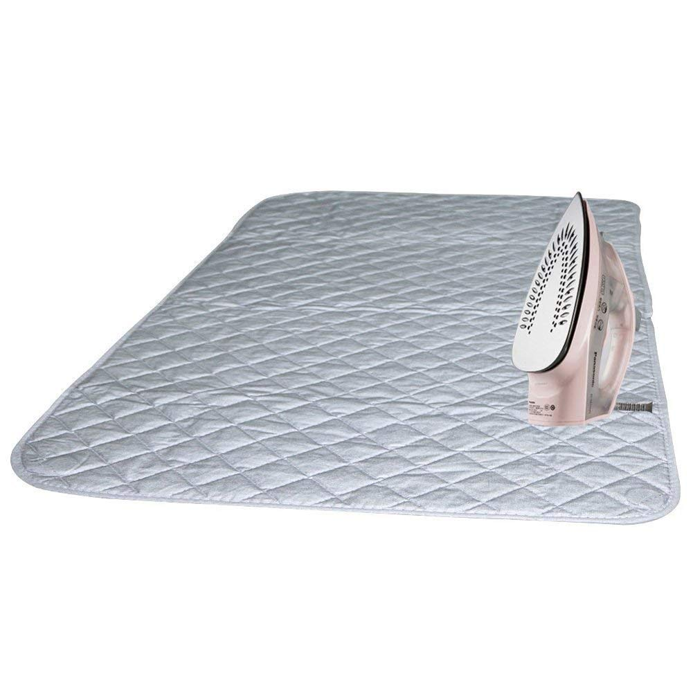 Ruibo Magnetic Ironing Mat Blanket Ironing Board Replacement,Iron Board Alternative Cover/Quilted Washer Dryer Heat Resistant Pad/Portable Ironing Board Cover/Mat Grey 33