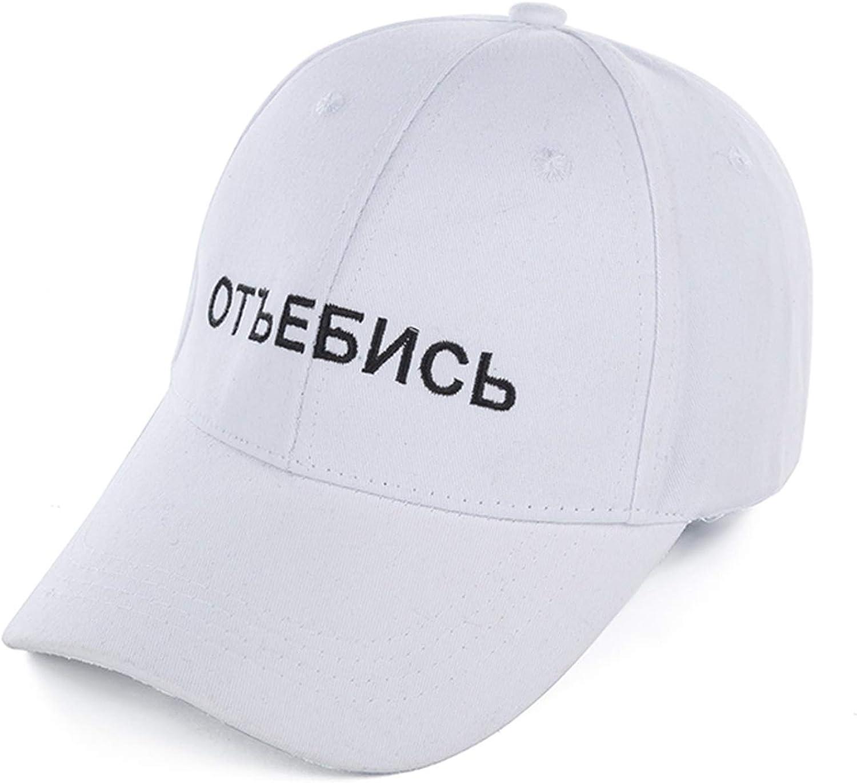 Feisette Cotton Russian Letter Cap Baseball Cap for Men Women Hip Hop Dad Hat Bone Garros