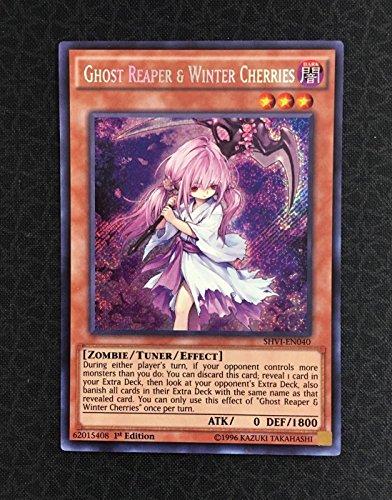 Yugioh Ghost Reaper & Winter Cherries SHVI-EN040 Secret Rare 1st Edition