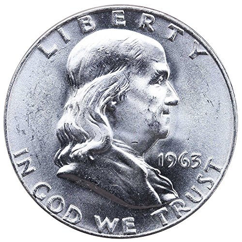 1963 D Franklin 90% Silver Half Dollar Brilliant Uncirculated