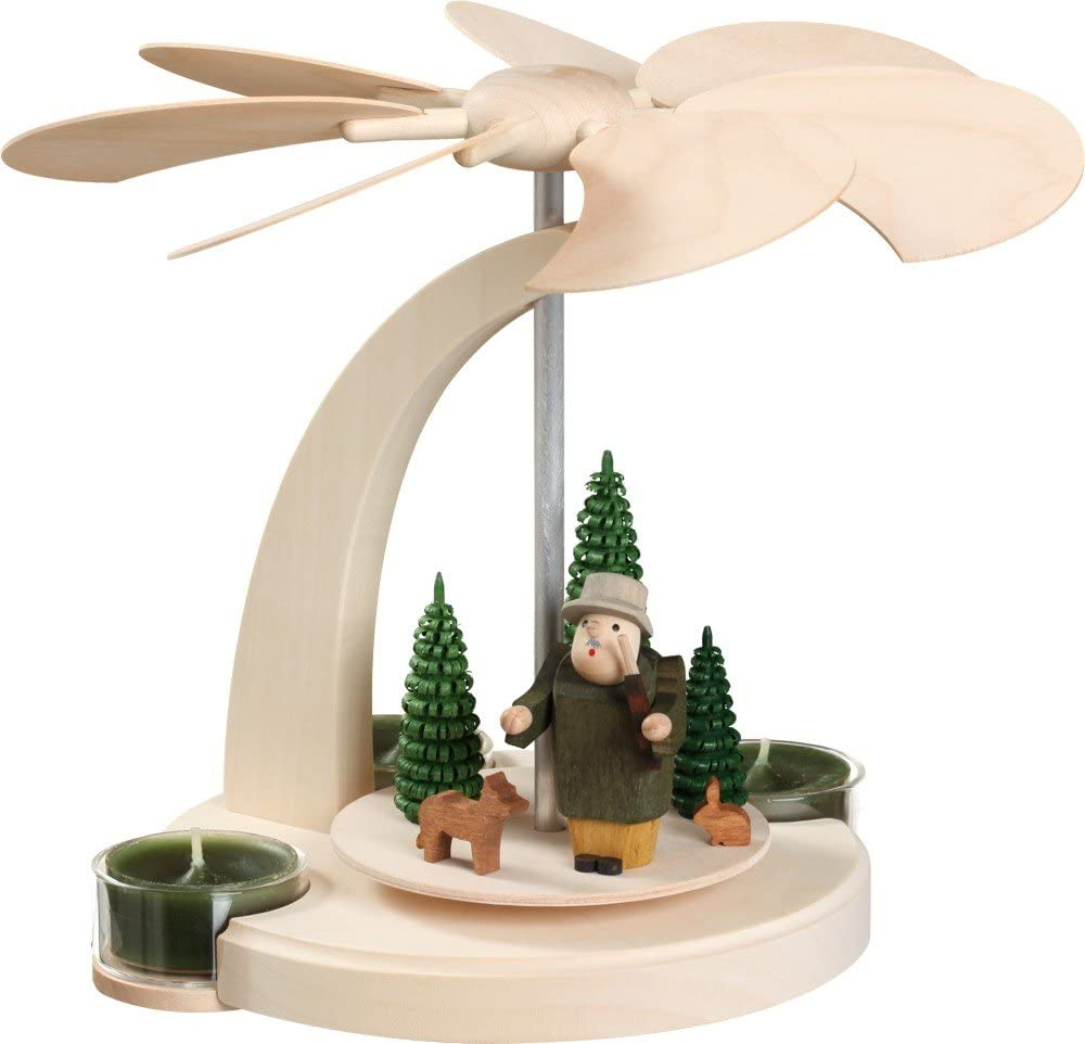 Seiffener Volkskunst Denver Mall German christmas Free Shipping Cheap Bargain Gift scene 1-ti forest pyramid