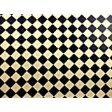 Dolls House Miniature Builder DIY Cream Black Tile Flooring Wallpaper by Melody Jane Dolls Houses