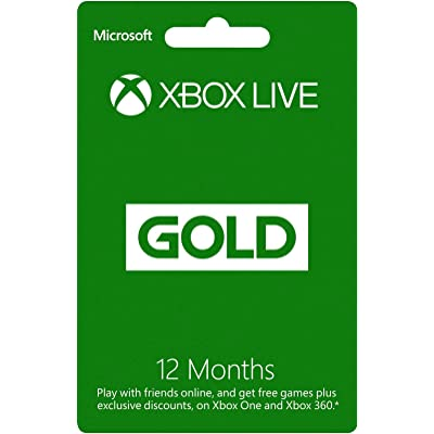 Xbox Live Gold 12 Month Membership Card (Xbox One/360) [Importación Inglesa]