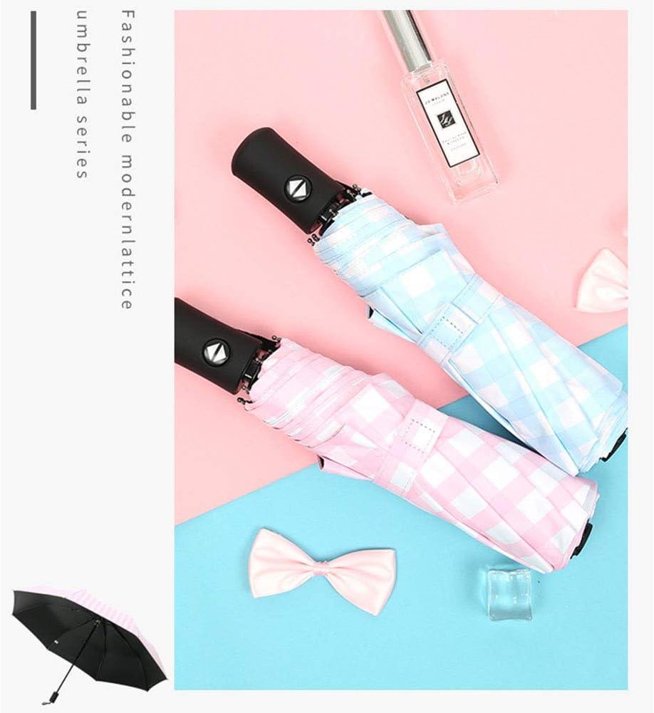YUJJ Travel Umbrella Compact Mini Folding Umbrella Auto Open and Close Button with 8 Rib Construction Umbrella Portable