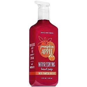 Bath and Body Works PUMPKIN APPLE Hand Soap with Pumpkin Butter 8 Fluid Ounce (2018 Fall Edition)