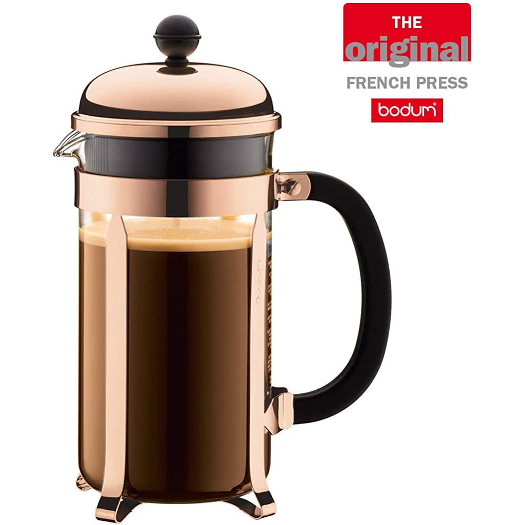 BODUM 1 Litre 8-Cup Copper Coffee Maker