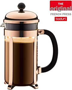Bodum 1928-18 Chambord French Press Coffee Maker, 8 Cup, 1.0L Capacity, Copper