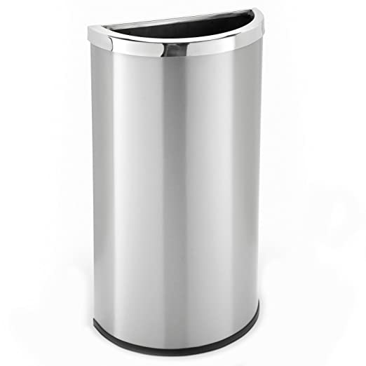 Amazon.com: Half Moon Trash Can – Acero inoxidable – 8 Gal ...