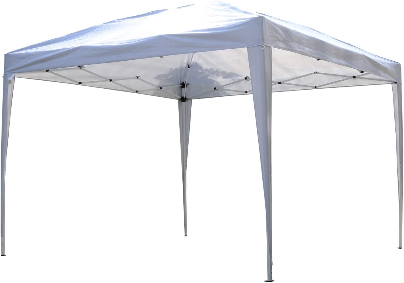 Outsunny 3 x 3 meter Garden Heavy Duty Pop Up Gazebo Marquee Party Tent Wedding Canopy (White) With Carry Bag