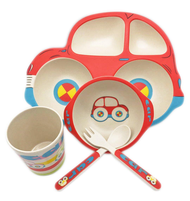 【超安い】 竹食器セットwith Fork and Spoon and for for Kids – 車 – Fork 5のセット B077Q59TCZ, 美の国:dccc857a --- a0267596.xsph.ru