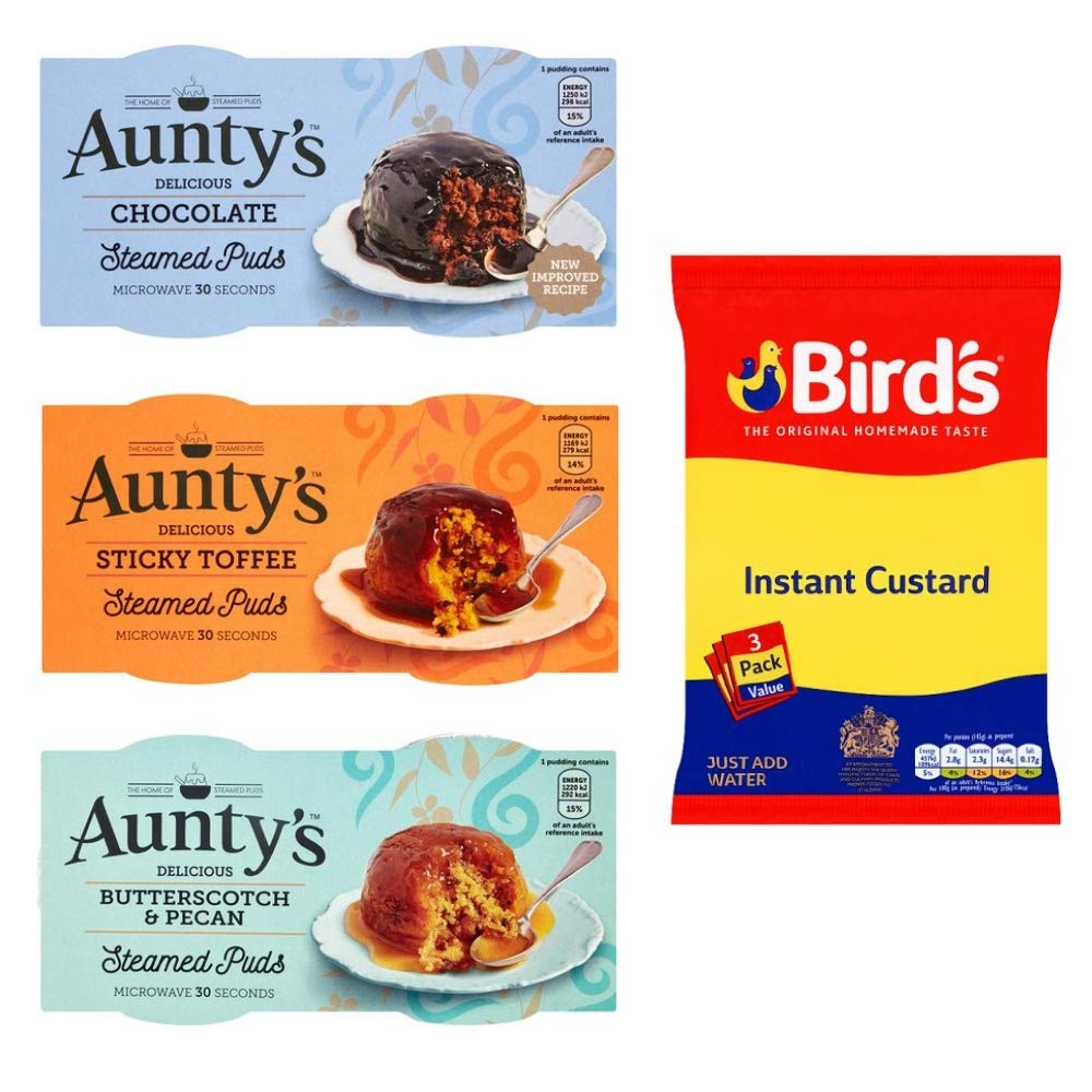 Steamed Pudding Collection 3 Pack Birds Instant Custard