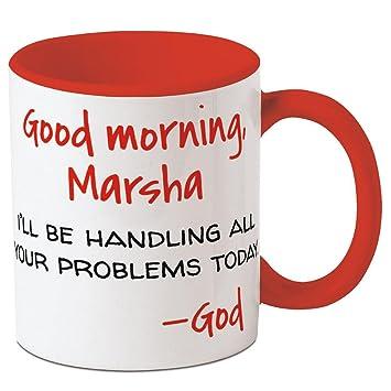 Amazoncom Good Morning God Personalized Ceramic Mug 11 Oz