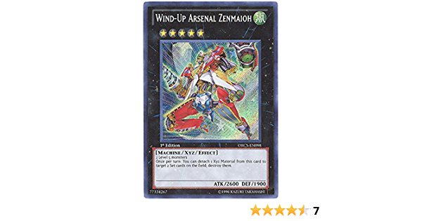 Secret Rare NM Order of Chaos ORCS-EN098 Wind-Up Arsenal Zenmaioh