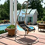 Hatteras Hammocks SWSC1T Steel Single Swing Stand, Taupe
