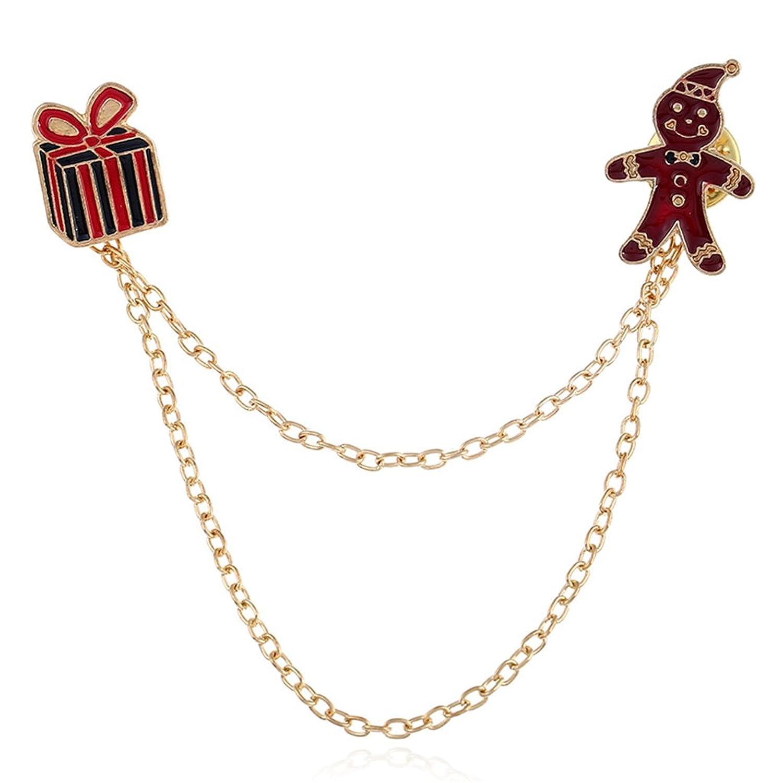 AYZ Christmas Clothing Collar Pin Brooch