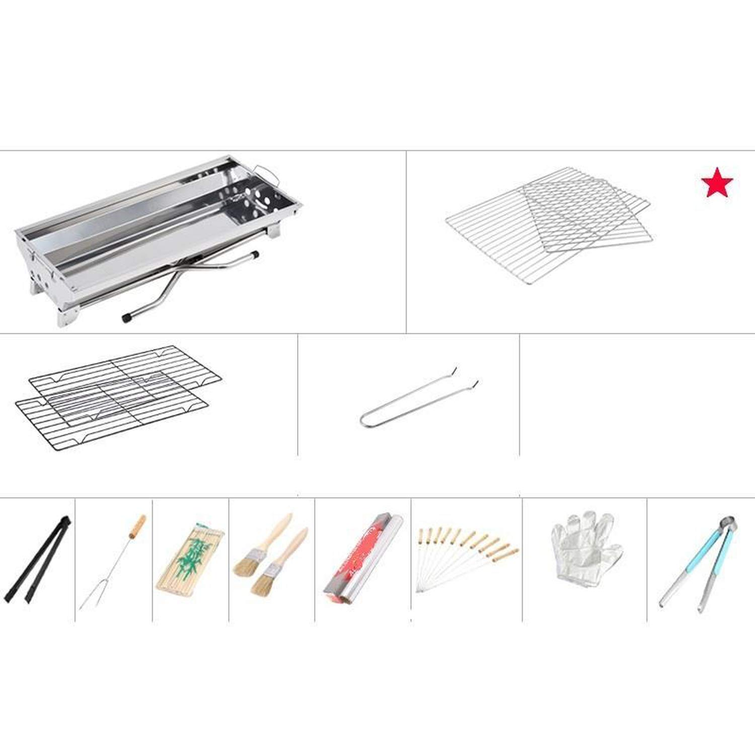 Amazon.com: Hey Meal Barbeque Korean Portable BBQ Griller Griglia ...