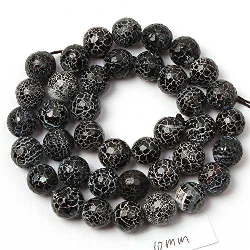 6mm Black Agate Round Beads - 9