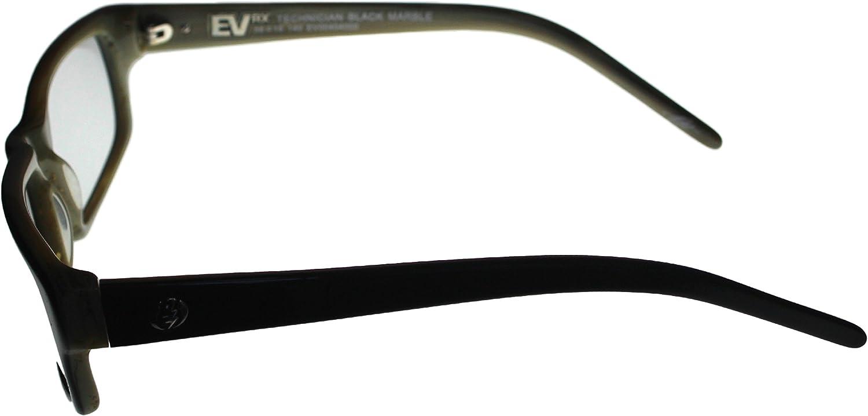 Electric Mens Technician Eyewear Frame Rectangle Matrix Brown Plastic EV004000700