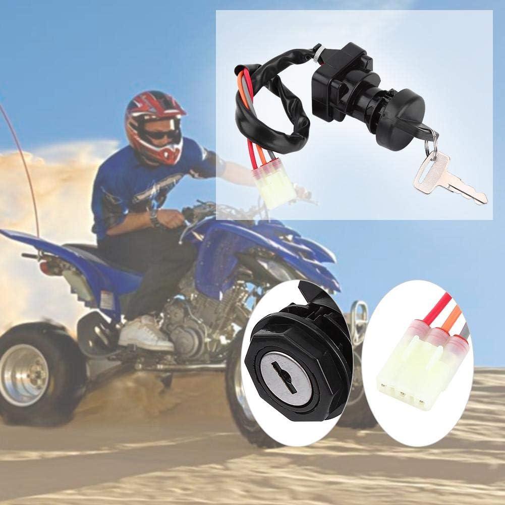 5 cables 5 pines Llave de encendido Interruptor de bloqueo de inicio para la mayor/ía de las motos 50-200CC Dune Buggy Go Kart ATV Interruptor de encendido