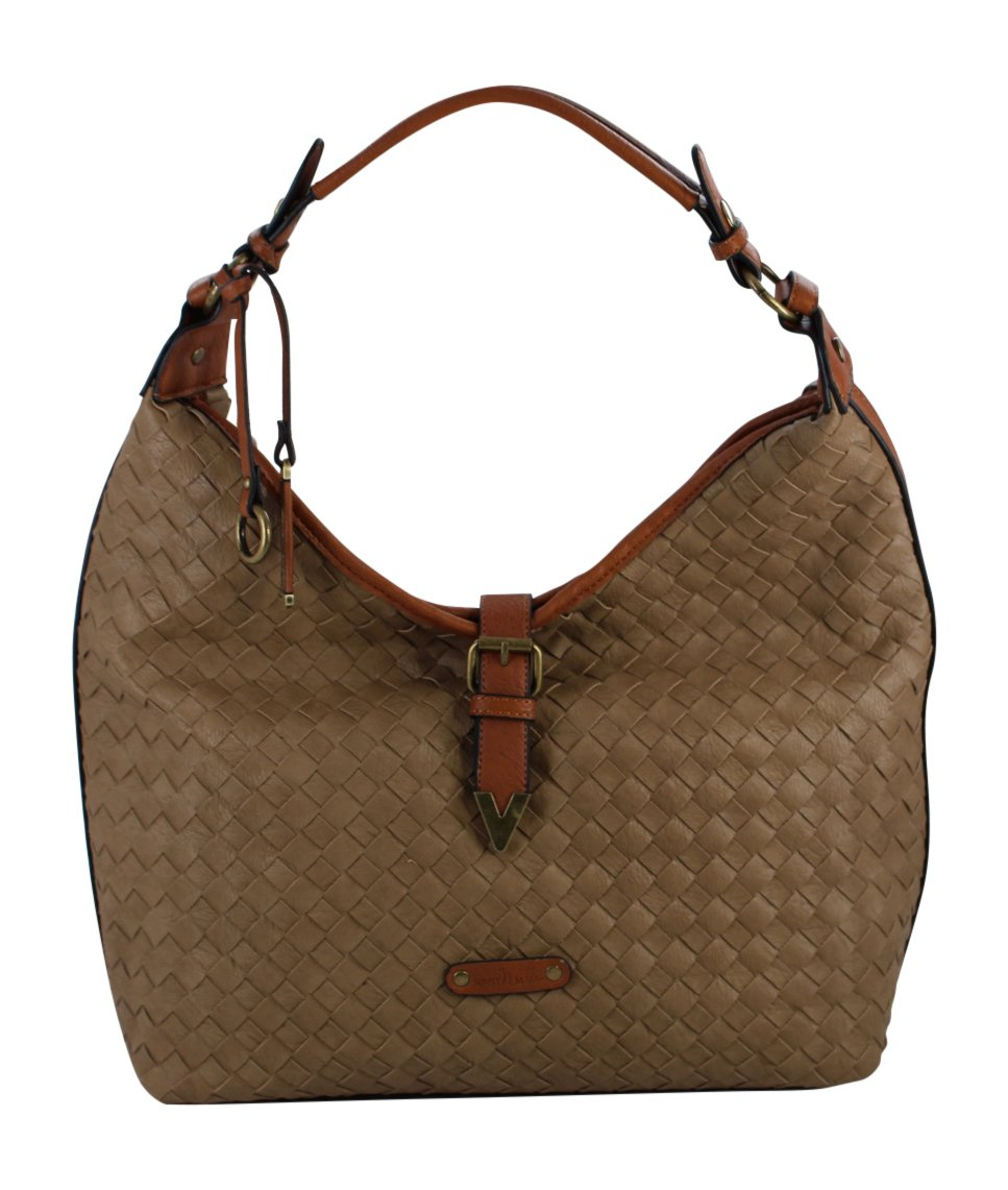 Simply Noelle Over Under Hobo Handbag (Pecan)