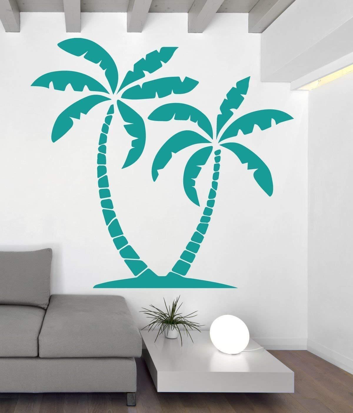Home Decor Office Decor Garden Design Hawaiian Decor Beach Decal Bedroom Decal Travel Design Palm Tree Vinyl Decal size LARGE
