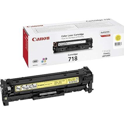 Canon cartucho 718 de tóner original amarillo para impresoras láser i-SENSYS LBP7200Cdn,7210Cdn,7660Cdn,7680Cx,MF8330Cdn,8350Cdn,8340Cdn,8360Cdn,8380C...