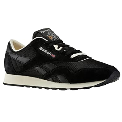 e5ed5ca928c Reebok Mens Mens Classic Nylon Premium Trainers in Black - UK 6  Amazon.co. uk  Shoes   Bags
