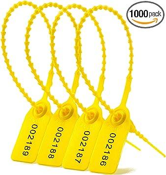 35 x 20 mm Sellos de seguridad color rojo 1000 unidades