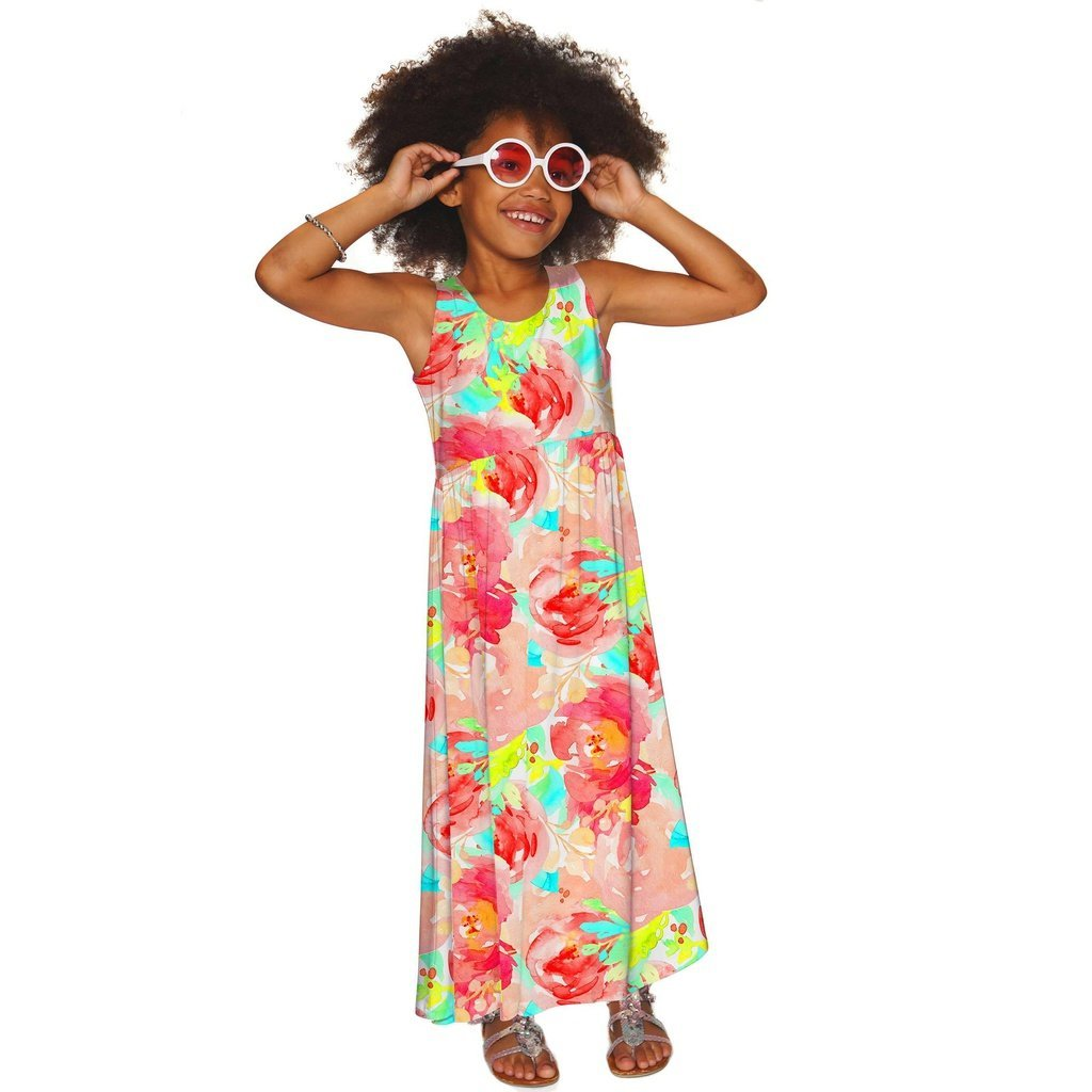 Good Idea Bella Empire Waist Summer Beach Maxi Dress - Girls
